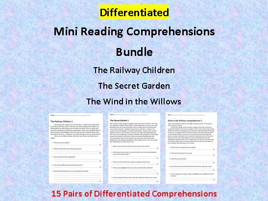 Differentiated Mini Comprehension BUNDLE