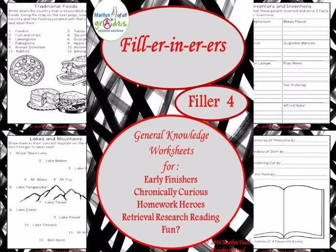 General Knowledge Fill-er-in-er-ers - Set 4