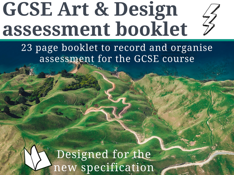 Art & Design GCSE student assessment booklet