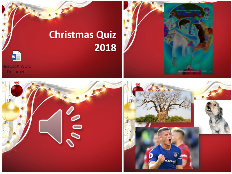 2018 End of Year Christmas Quiz