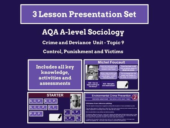 Control, Punishment and Victims - AQA A-level Sociology - Crime and Deviance Unit - Topic 9