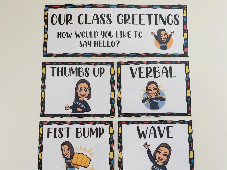Editable Classroom Greetings