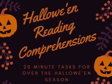 Set of 5 'to-the-point' HALLOWE'EN reading passages (KS2)