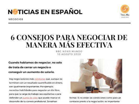 Noticias en español - Negocios - B1 / B2 / C1 / C2 (DELE) (news in Spanish)