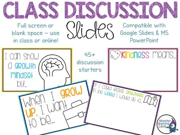 Class Discussion Slides | Interactive | Distance Learning