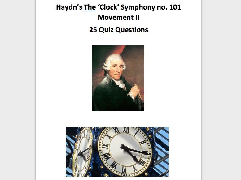 Haydn Clock Symphony Questions