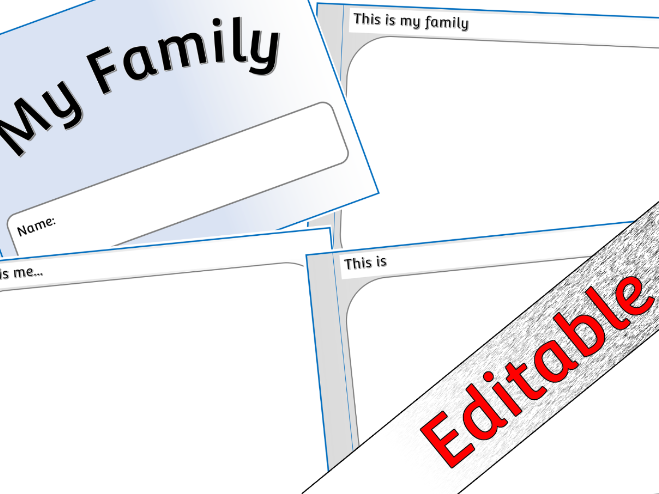 My Family (All About Me) Booklet - Editable