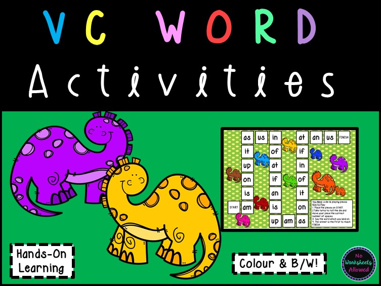 VC Word Blending Games and Activities