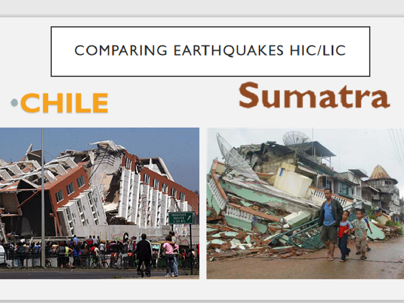 Earthquake theory & case studies Sumatra and Chile