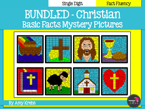 BUNDLED - Christian Mystery Pictures - Add, Subtract, Multiply and/or Divide
