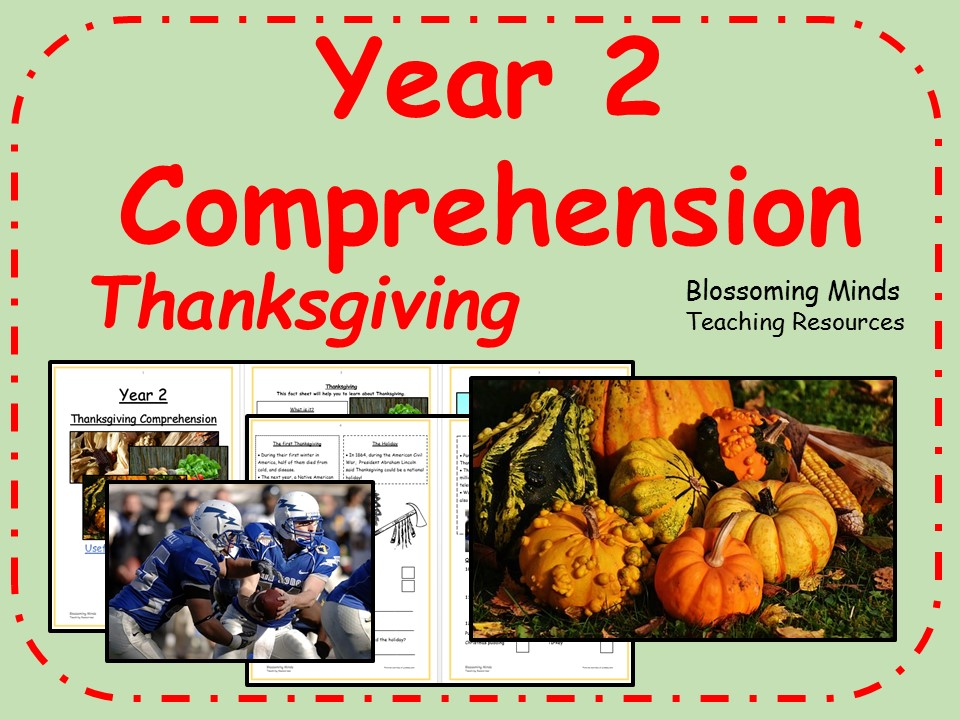 Year 2 comprehension - Thanksgiving