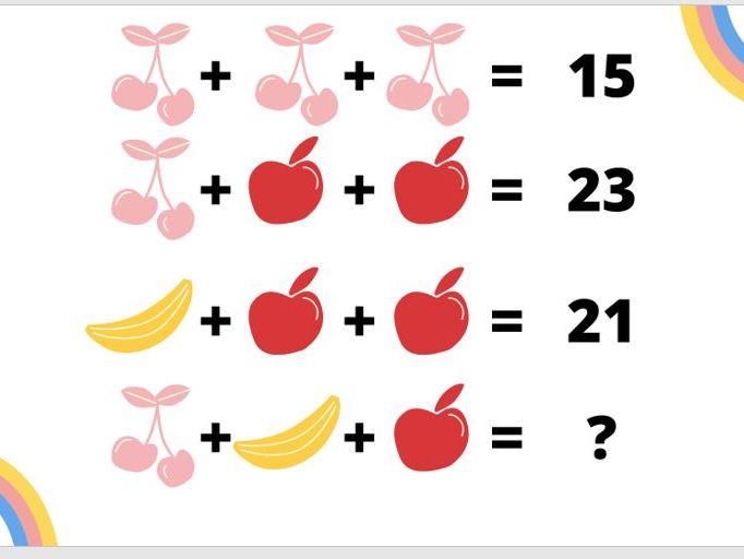 Maths Brain Teasers - Addition
