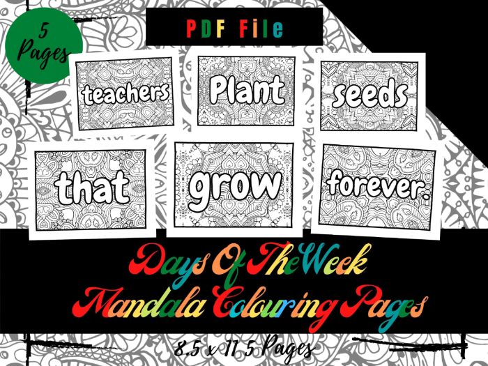 Teachers Plant Seeds That Grow Forever Mandala Colouring Pages