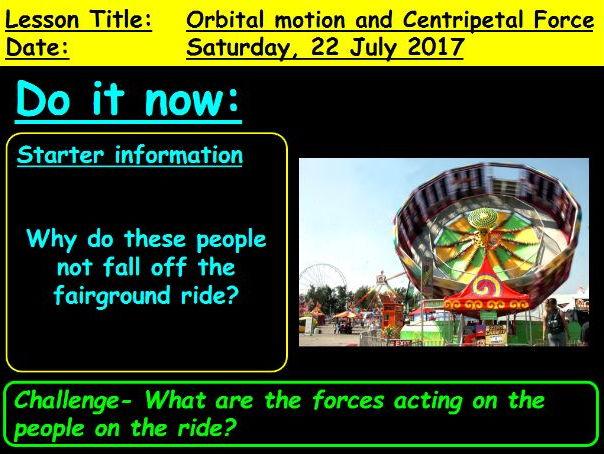 Centripetal Force and Orbital Motion: GCSE 9-1 Physics