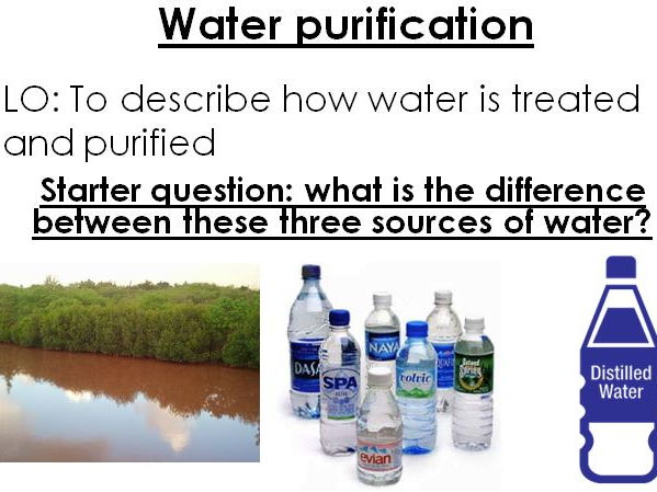 AQA 9-1 GCSE Chemistry Topic 10 Using resources -Potable water, waste water and distillation RPA