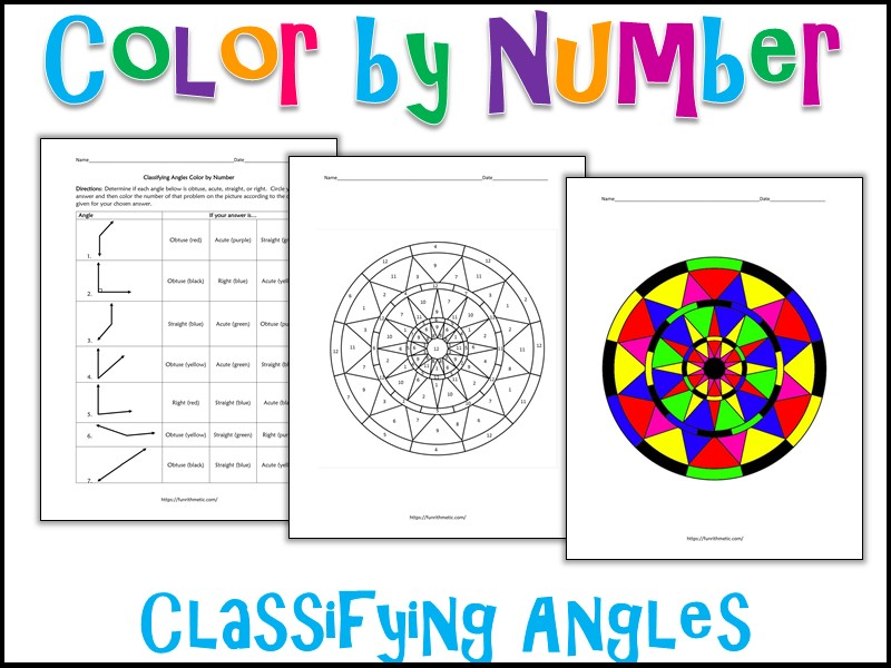 Classifying Angles Color by Number