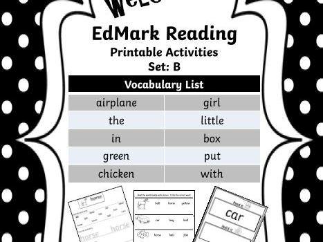 EdMark Reading Support Activities