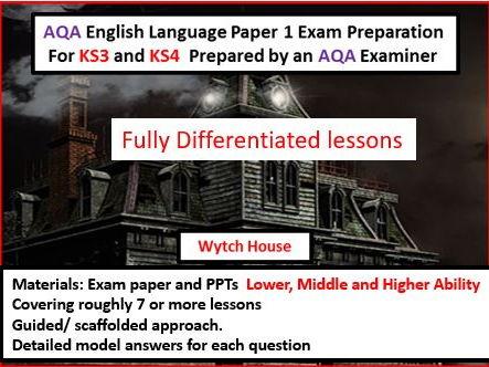 AQA GCSE English Language Exam Preparation Paper 1 KS4 and KS3