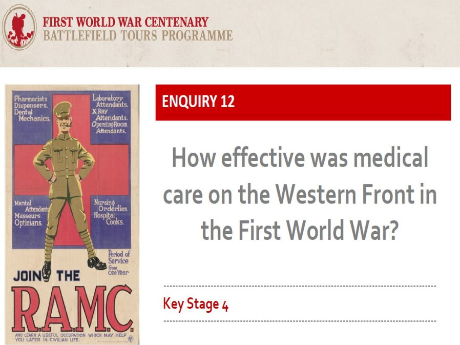 WW1 Medicine on the Western Front - free historical enquiry and resources for GCSE (Edexcel 1-9)