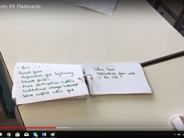 Flash cards: video explanation