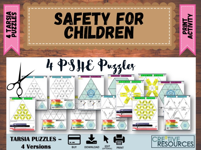 Safety PSHE Puzzles