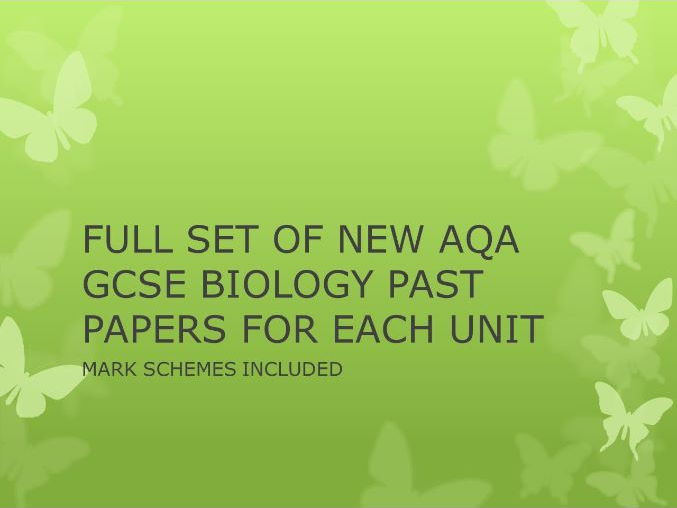 New AQA Biology- Full course set of past paper homework or revision workbook with markschemes