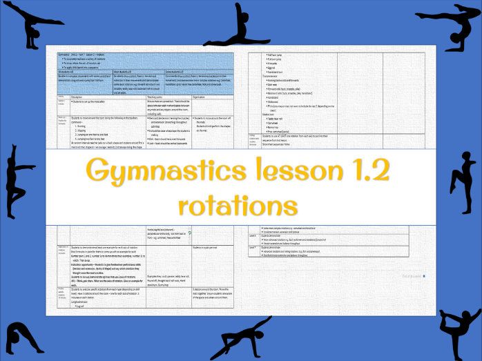 Gymnastics lesson plan - Rotations (year 7 lesson 2)