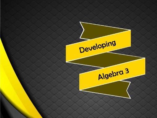 Developing Algebra 3