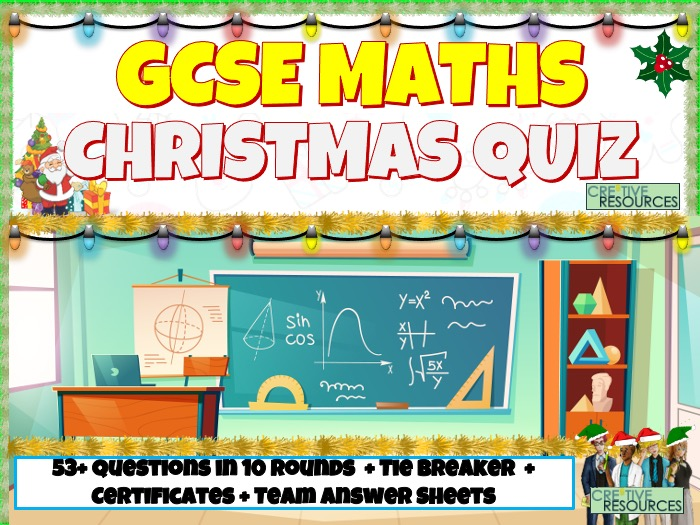 GCSE Maths Christmas Quiz