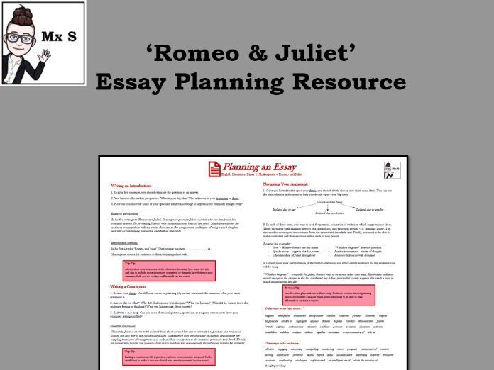 Romeo & Juliet - Essay Planning Knowledge Organiser
