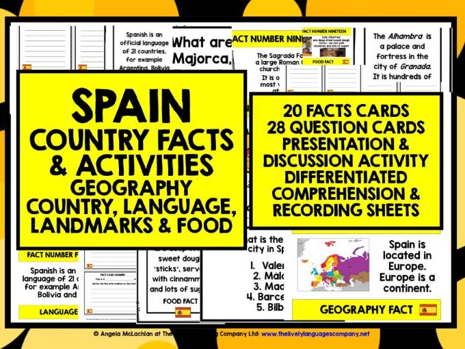 ELEMENTARY SPANISH FACTS ACTIVITIES 1