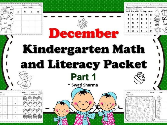 December Kindergarten Math and Literacy