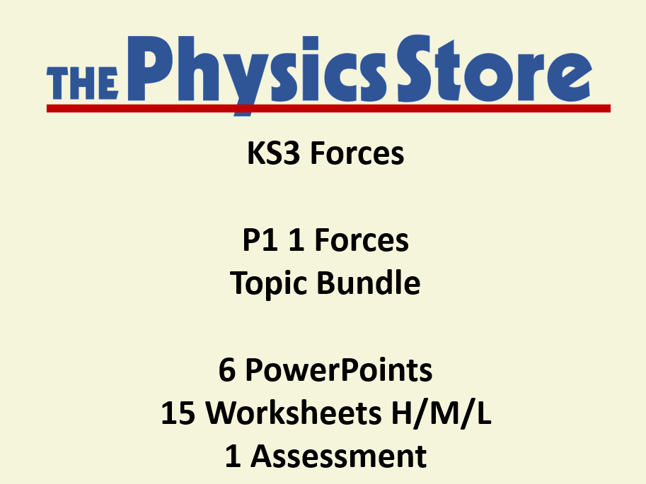 Ks3 Physics P1 1 Forces Topic 6 Powerpoints And 16 Worksheets