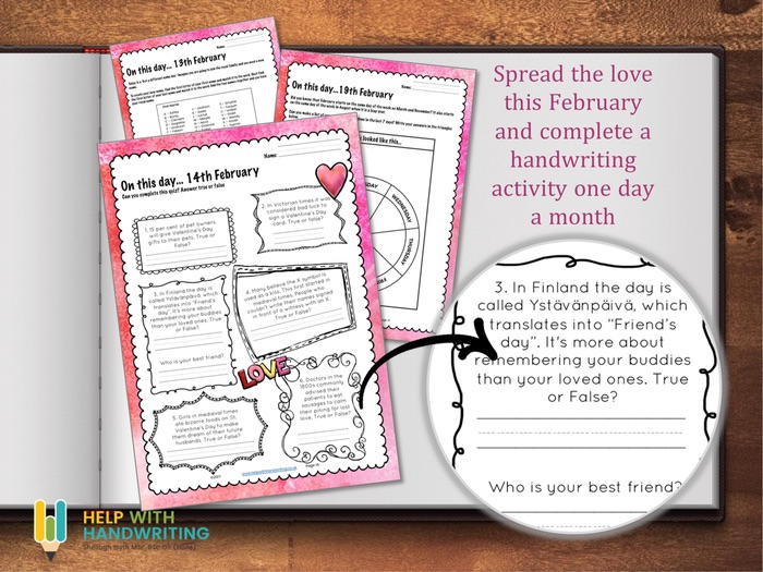 February Handwriting Workbook