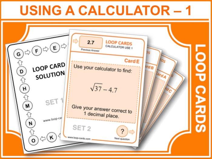 Using a Calculator: Part 1 (Loop Cards)