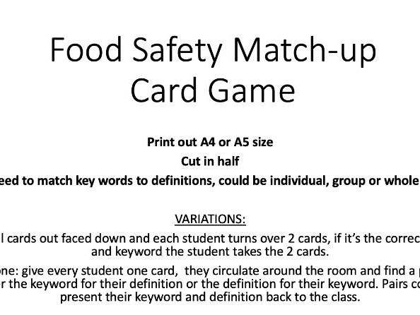 Food Safety Card Game