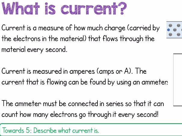 Current in Circuits: New 9-1 AQA Physics