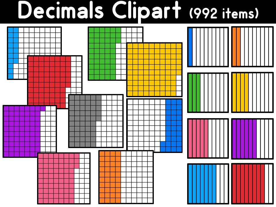 Decimals Clipart (tenths and hundredths)