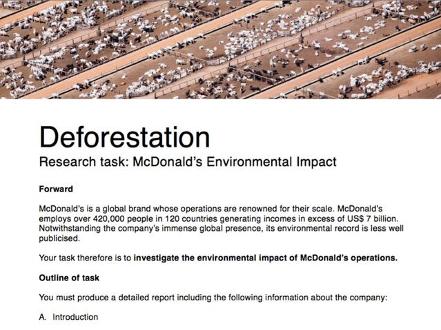 McDonald's and the Amazon Homework Assignment