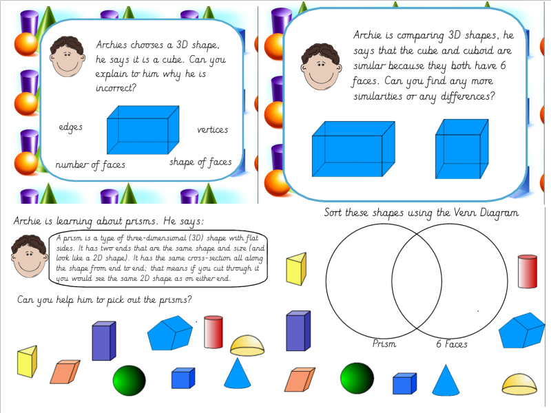 Properties Of 3d Shapes And Venn And Carroll Diagrams By Missjg133