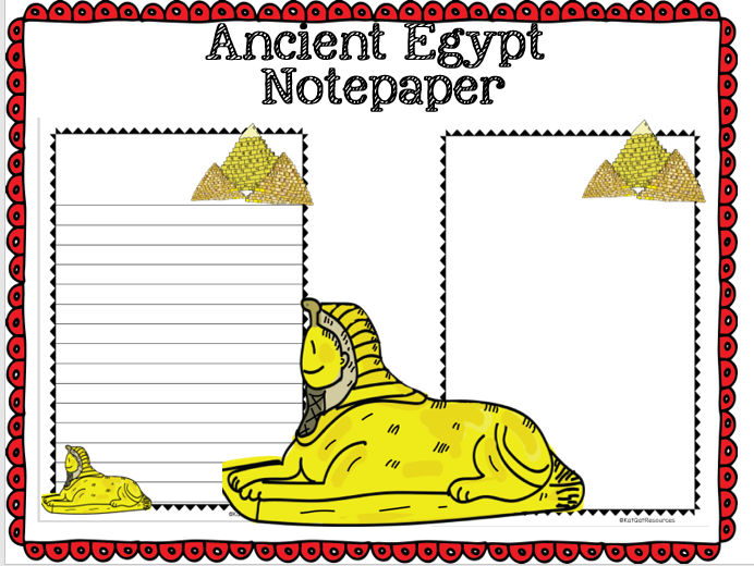 Ancient Egypt Notepaper