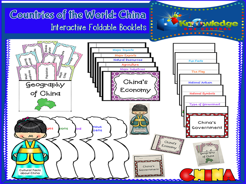 Countries of the World: China Interactive Foldable Booklets