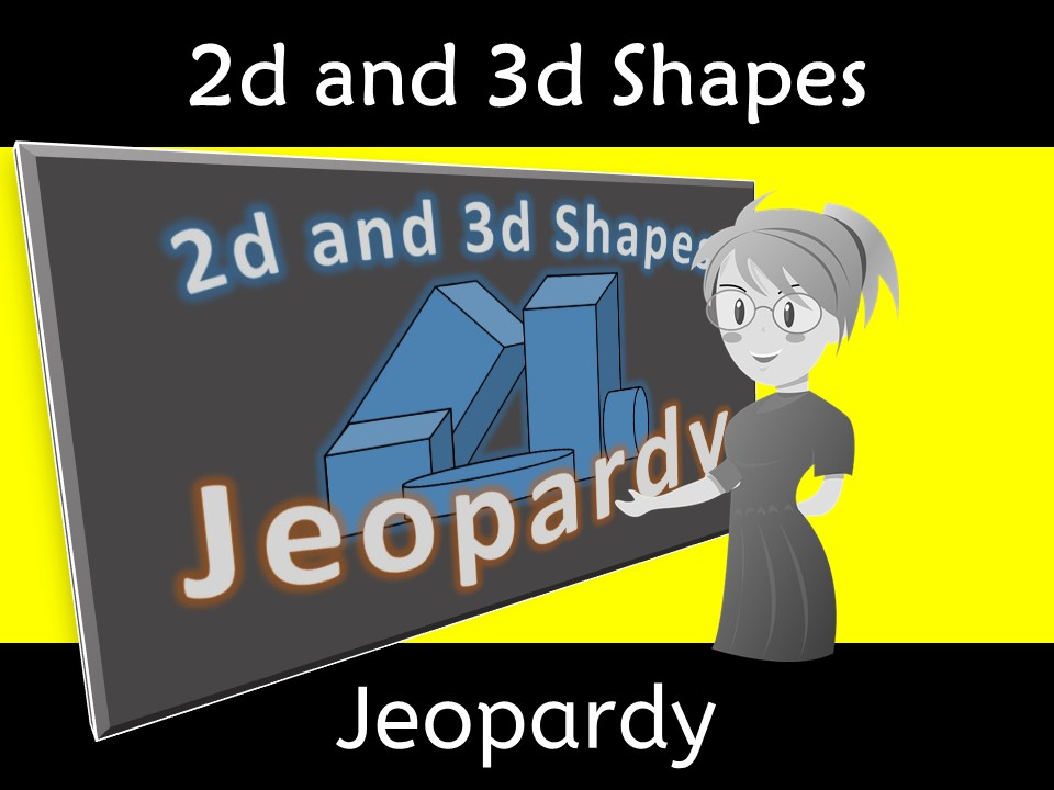 2d and 3d Shape Geometry Vocabulary Fun Jeopardy Game
