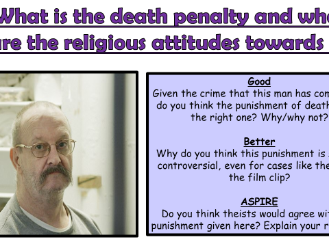 AQA A GCSE Theme E Religion, Crime and Punishment: Lesson 6 What is the death penalty?