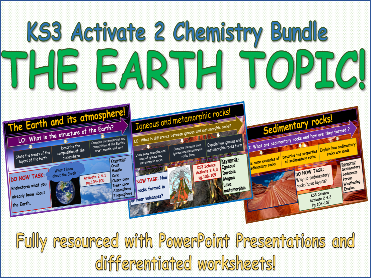 The Earth Activate 2 KS3 Science bundle