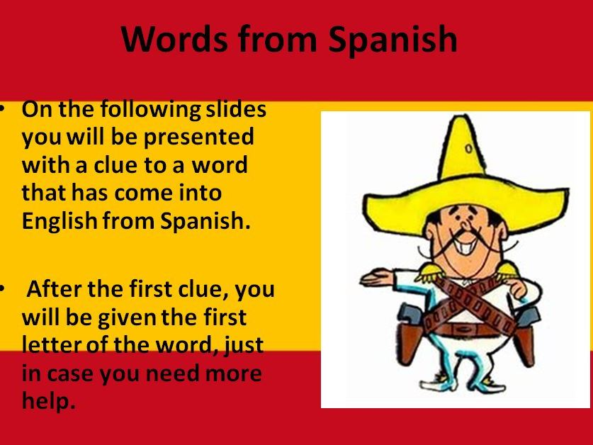 Words from Spanish