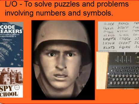 WW2 Context for Maths code breaking lesson - column addition/ grid multiplication