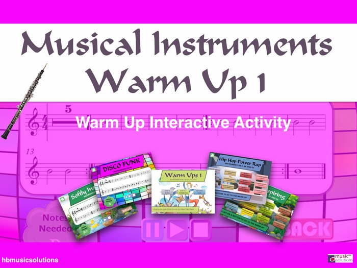 Musical Instruments Warm Up 1 Interactive Module