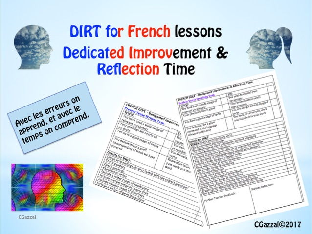 DIRT for French Students - Feedback Sheets and PowerPoint.
