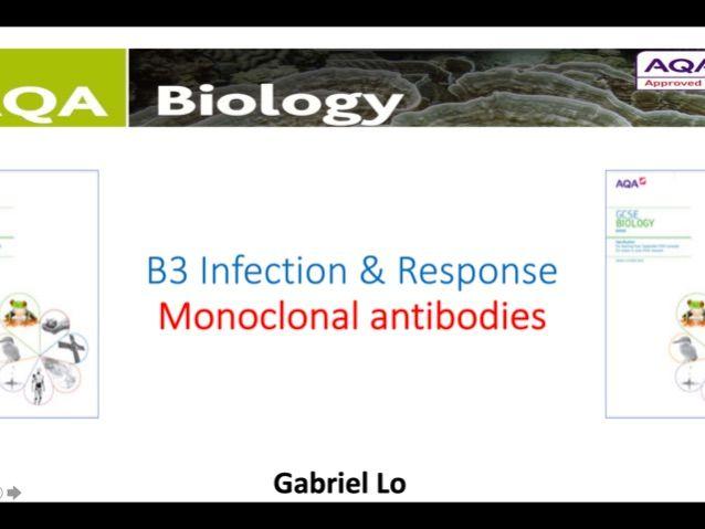 AQA GCSE Biology B3.2 Monoclonal antibody